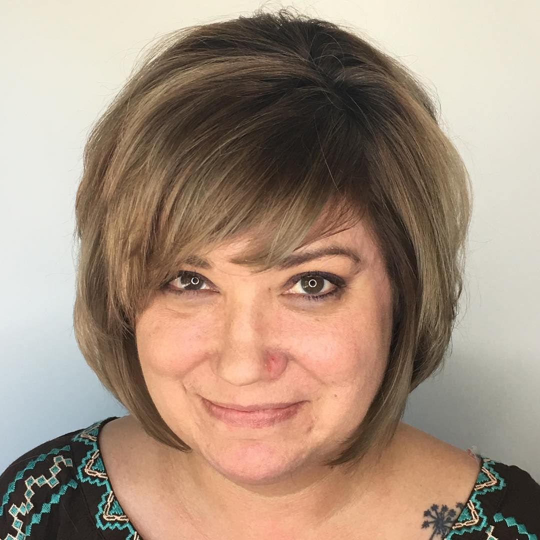 Short hairstyles for overweight over 50women