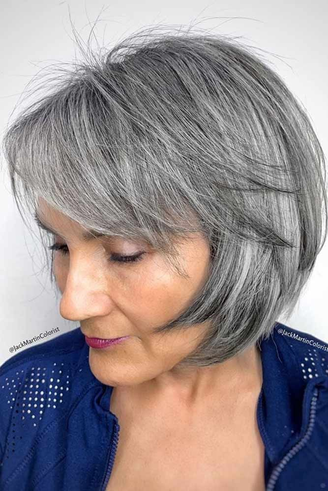 100 Short Haircut Styles for Over 60 Women in 2021 18d9dfa647e742a3fc862481cf1fedf0