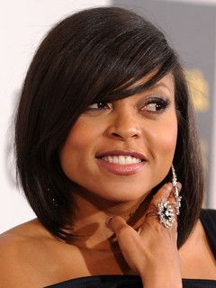 Side bang bob hairstyles for black hair
