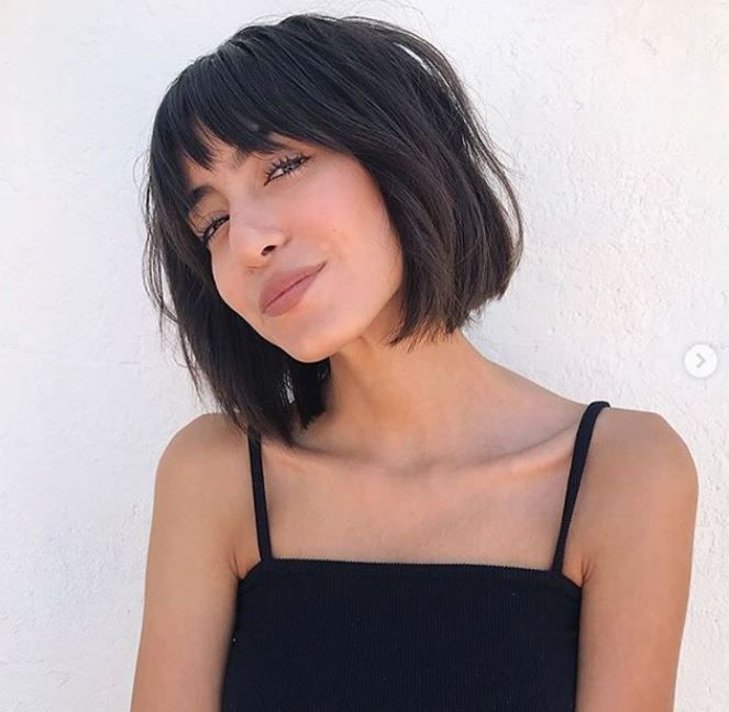 Bob haircut with fringe