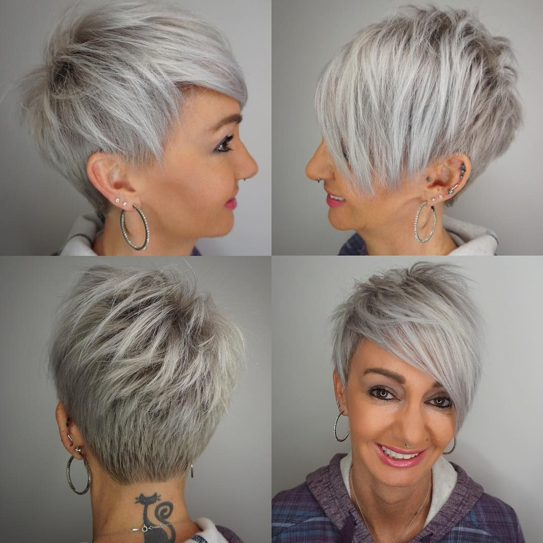 50 Cute Short Hairstyles for Women Over 60 (Updated 2021) 64e65272c13c806eea86b01a3c664398