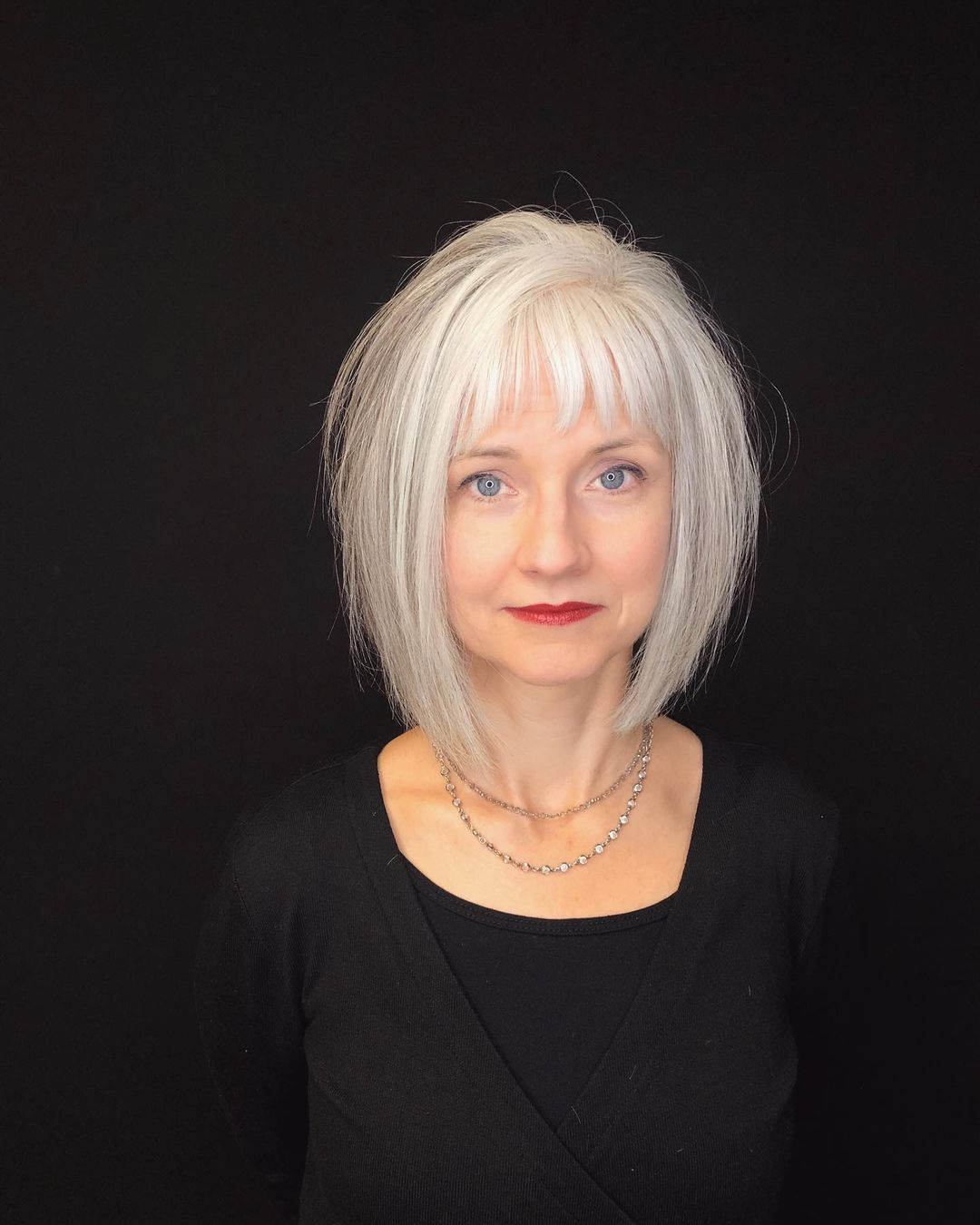 10 Fresh Looking Short Haircuts with Bangs for Older Women (Updated 2021) 734c8d6cf3df1d55dfb597704093ecc6