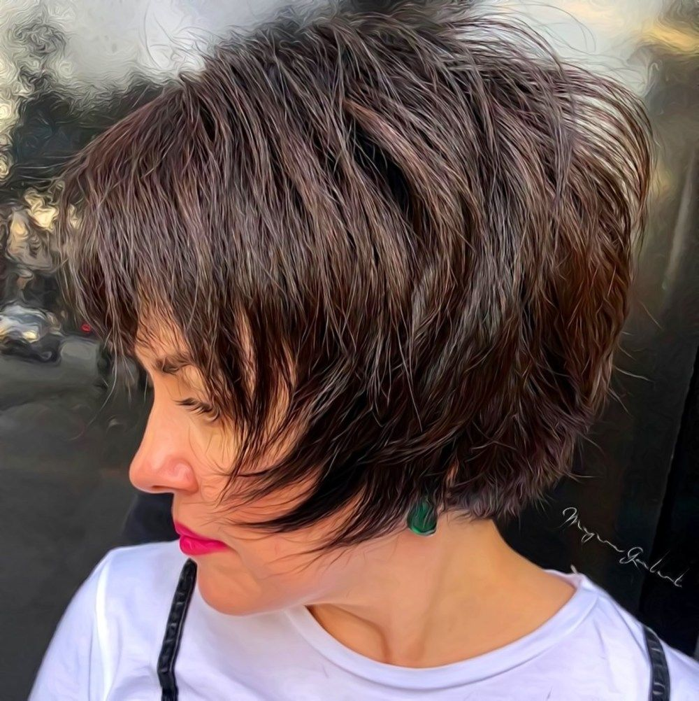 100 Short Haircut Styles for Over 60 Women in 2021 8159e7f70eb0ced4a9476af237b6de11-1