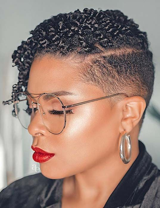 20 Easy Short Hairstyles for Older Women with Natural Hair (Updated 2021) 8931446e613d4ffa8a8e50dc918b9f10