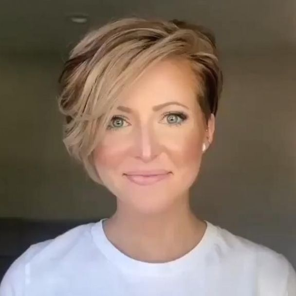 50 Cute Short Hairstyles for Women Over 60 (Updated 2021) 96b771c64512556a7d047f5446fed1ba