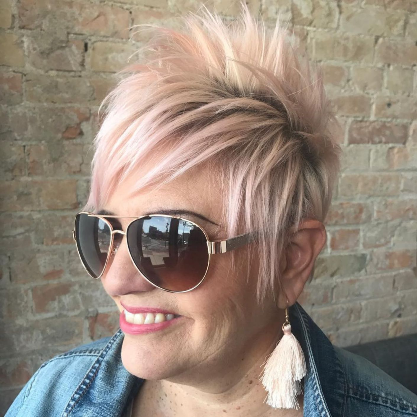 10 Fresh Looking Short Haircuts with Bangs for Older Women (Updated 2021) 9edfedaac84835f018e251fef4d49d92