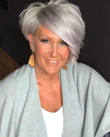 100 Short Haircut Styles for Over 60 Women in 2021 a2af4f53ccea4530b9d60bf289941a84