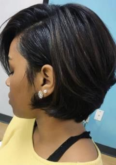 Short tapered bob african american