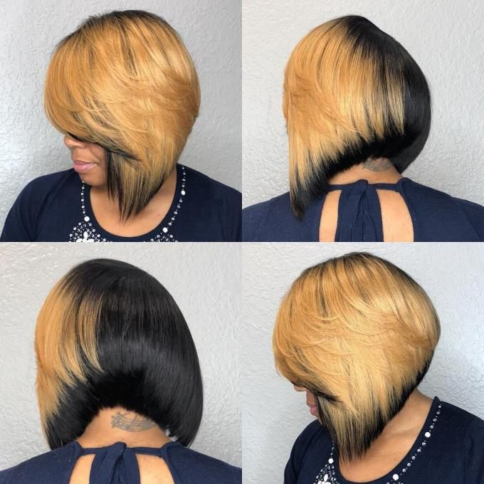 Edgy black bob hairstyles