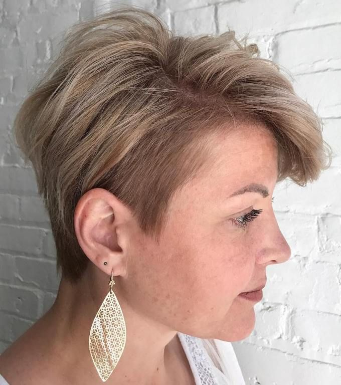 Very short choppy pixie