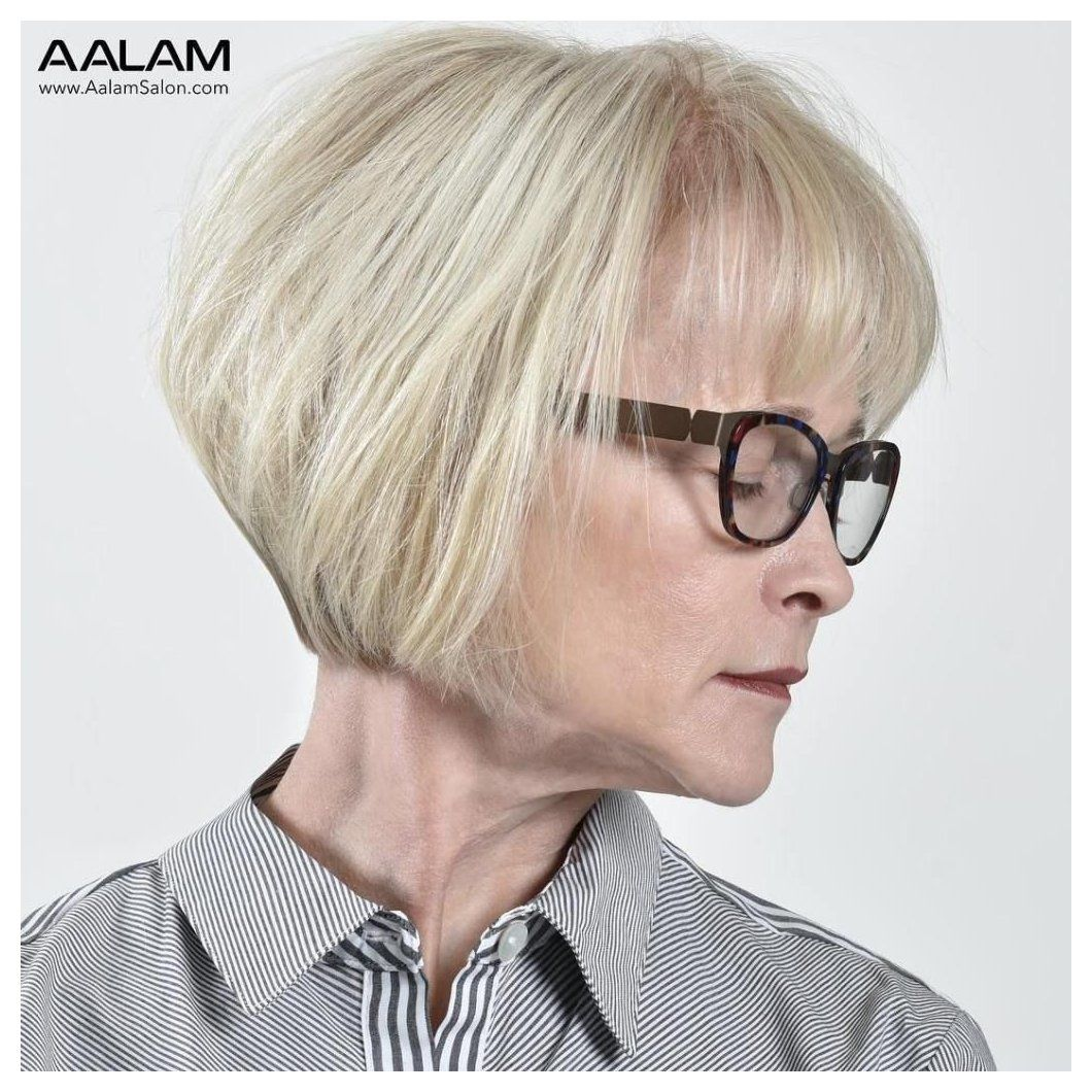 50 Cute Short Hairstyles for Women Over 60 (Updated 2021) c0368eb6b4f751ec58693f18f9335eac