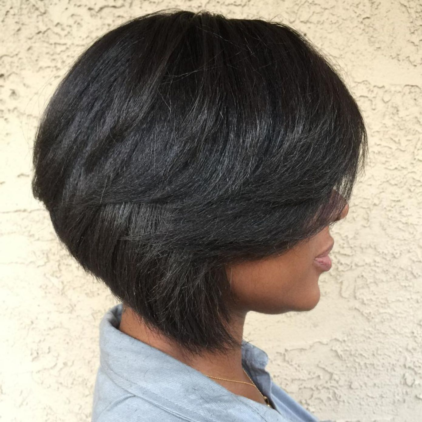 Inverted bob hairstyles for black hair
