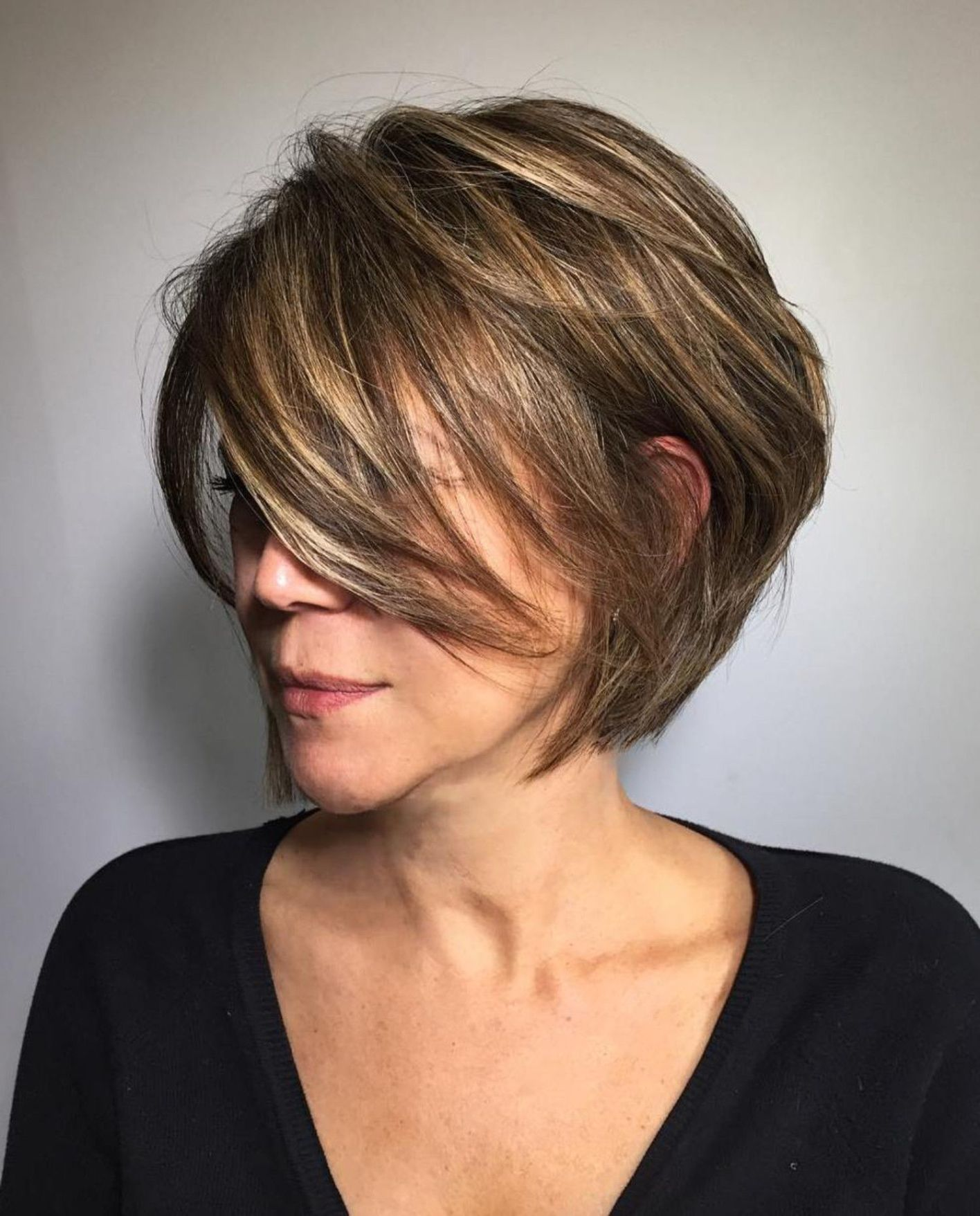 53 Awesome Short Layered Haircuts for Older Women (Updated 2021) d58d05b453c6fb5db59f1dc559aa046d