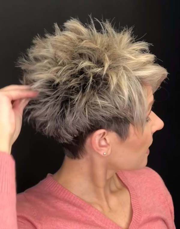 Messy spiky haircuts