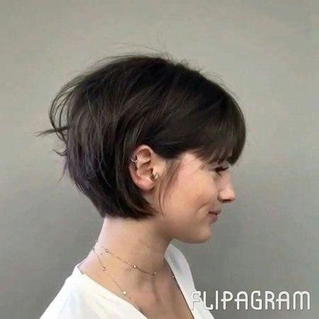 Wedge hairstyles with bangs