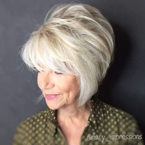 Look Fresh with Short Layered Haircuts for Older Women (Updated 2021) 09071a2b713ea87e610483dead684e46