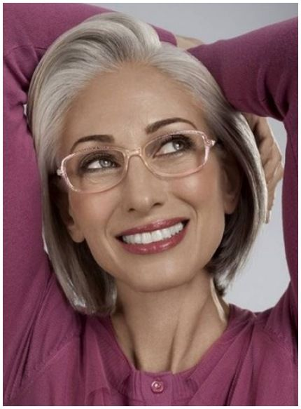 21 Short Hairstyles for Women with Grey Hair and Glasses (Updated 2021) 0e82bc10eb7d94a1e7016d9ad731aada