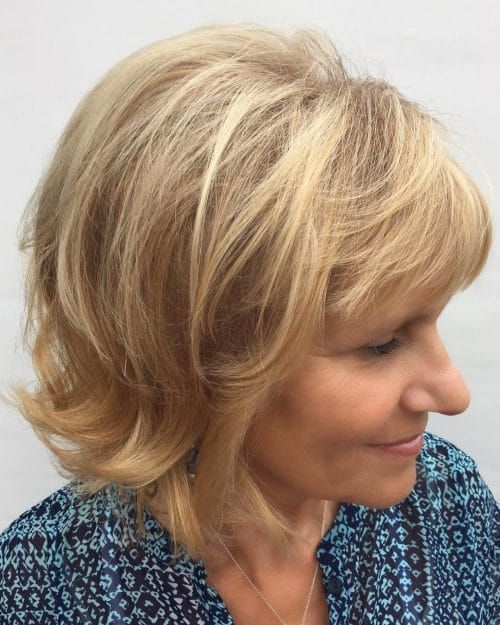 Looks Great in 60s with Cute Short Layered Haircuts (Updated 2021) 1838e16f8abc322e97da23f702bed128