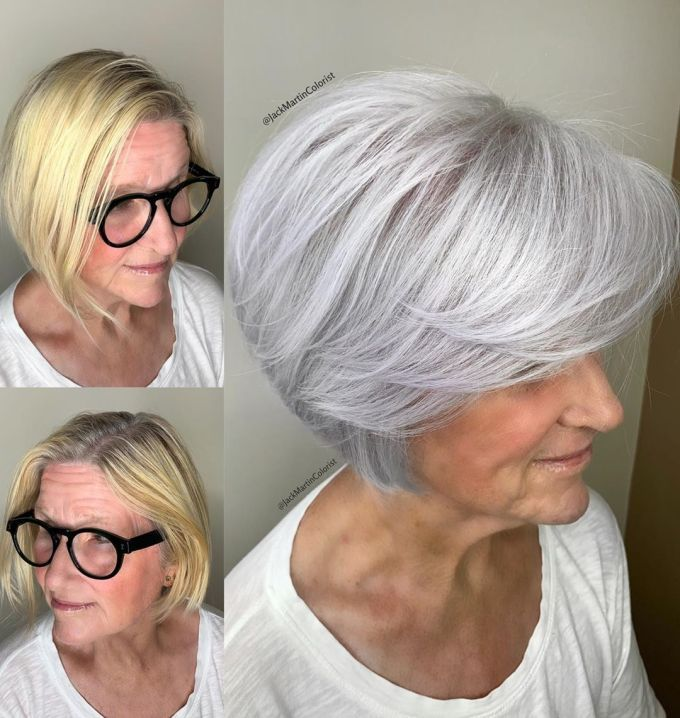 Looks Great in 60s with Cute Short Layered Haircuts (Updated 2021) 712cfc12e772d6b513749ef582a4603e