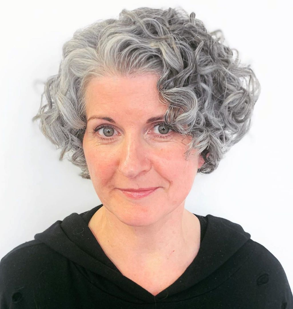 10 Stunning Short Curly Haircut Styles for Older Women (Updated 2021) a1f9cda63ce6fd5c10afb014c04669cc