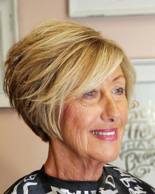 Looks Great in 60s with Cute Short Layered Haircuts (Updated 2021) a5d70df1e9bc1ff017ff80b155b54f70