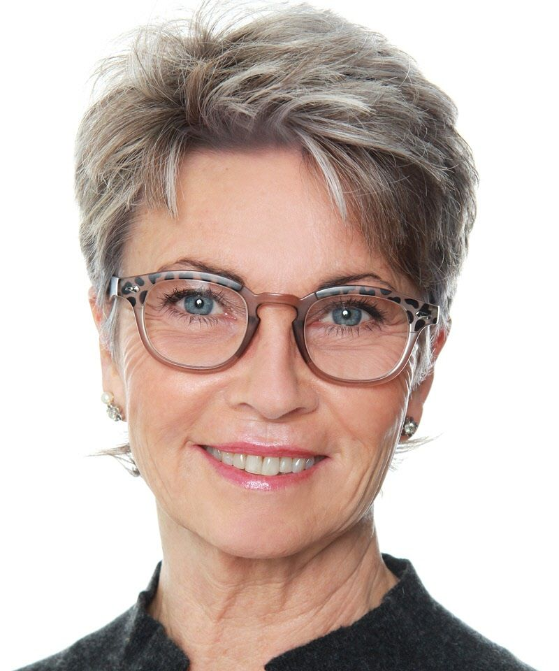 21 Short Hairstyles for Women with Grey Hair and Glasses (Updated 2021) ab0bd37fc4c7f76e5dcba47612653c89