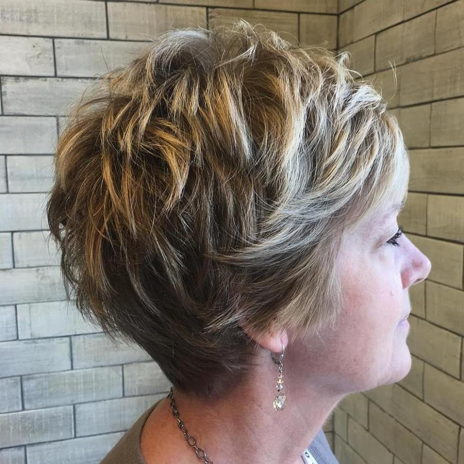 Look Fresh with Short Layered Haircuts for Older Women (Updated 2021) f56f0f79dfe4269e7812ce7dae463f74