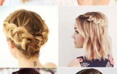 Short Half Up Half Down Hairstyle for Wedding 3