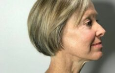 Perfect short haircut for women over 60 with oval face 2